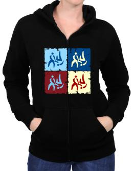 Aikido - Pop Art Zip Hoodie - Womens