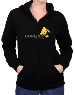 Curling - Only For The Brave Zip Hoodie - Womens