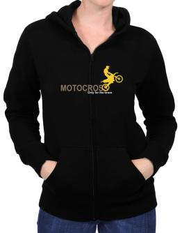 Motocross - Only For The Brave Zip Hoodie - Womens