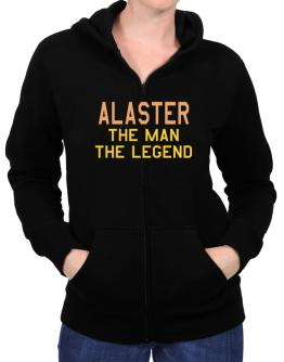 Alaster The Man The Legend Zip Hoodie - Womens
