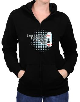 I Am Alaster, The Boy On The Milk Box Zip Hoodie - Womens