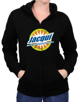 Jacqui - With Improved Formula Zip Hoodie - Womens