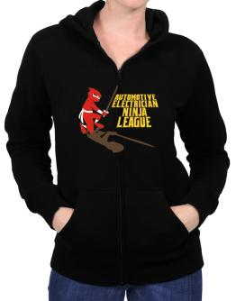 Automotive Electrician Ninja League Zip Hoodie - Womens