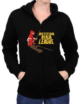 Dietitian Ninja League Zip Hoodie - Womens