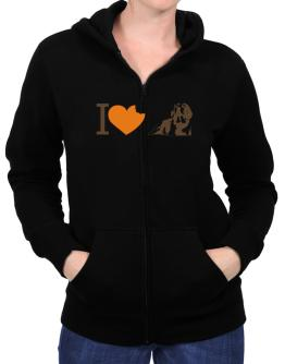 I love Beagles Zip Hoodie - Womens