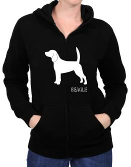 Beagle Stencil / Chees Zip Hoodie - Womens