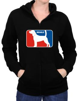 Beagle Sports Logo Zip Hoodie - Womens