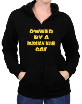 Owned By S Russian Blue Zip Hoodie - Womens