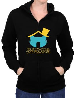 Home Is Where Siamese Is Zip Hoodie - Womens