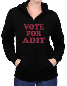 Vote For Adit Zip Hoodie - Womens