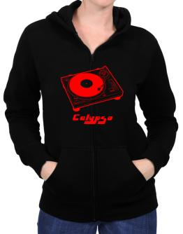 Retro Calypso - Music Zip Hoodie - Womens