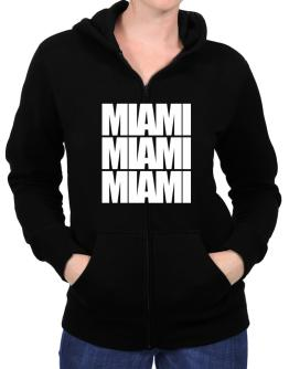 Miami three words Zip Hoodie - Womens