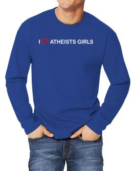 I love Atheists Girls Long-sleeve T-Shirt