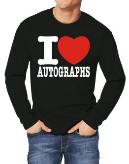 I Love Autographs Long-sleeve T-Shirt