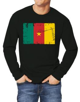 """ Cameroon - Vintage Flag "" Long-sleeve T-Shirt"