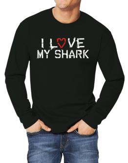 I Love My Shark Long-sleeve T-Shirt