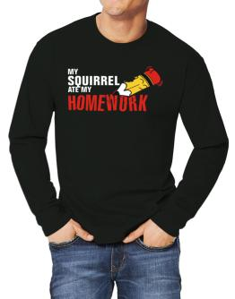 My Squirrel Ate My Homework Long-sleeve T-Shirt