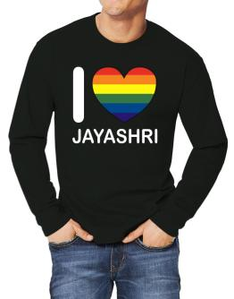 I Love Jayashri - Rainbow Heart Long-sleeve T-Shirt