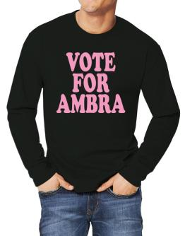 Vote For Ambra Long-sleeve T-Shirt