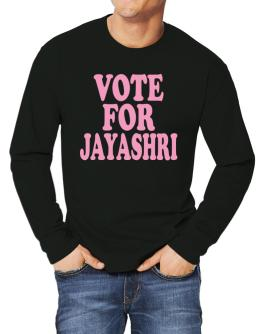 Vote For Jayashri Long-sleeve T-Shirt