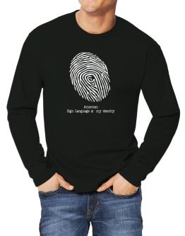 American Sign Language Is My Identity Long-sleeve T-Shirt