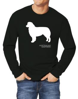 Australian Shepherd Stencil / Chees Long-sleeve T-Shirt