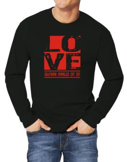 Love California Spangled Cat Long-sleeve T-Shirt