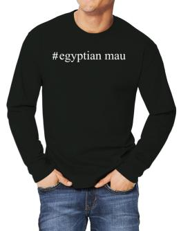 #Egyptian Mau - Hashtag Long-sleeve T-Shirt