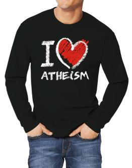 I love Atheism chalk style Long-sleeve T-Shirt