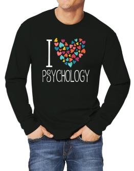 I love Psychology colorful hearts Long-sleeve T-Shirt