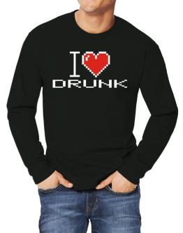 I love Drunk pixelated Long-sleeve T-Shirt