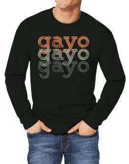 Gayo repeat retro Long-sleeve T-Shirt