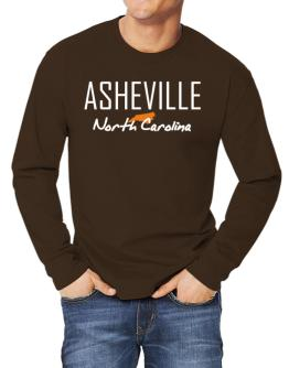 """"""" Asheville - State Map """" Long-sleeve T-Shirt"""