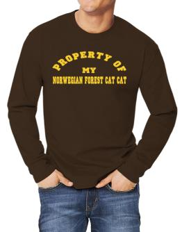 Property Of My Norwegian Forest Cat Long-sleeve T-Shirt