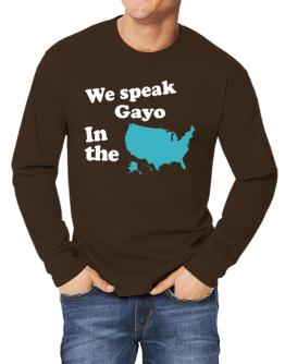 Gayo Is Spoken In The Us - Map Long-sleeve T-Shirt