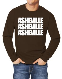 Asheville three words Long-sleeve T-Shirt