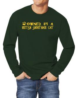 Owned By A British Shorthair Long-sleeve T-Shirt