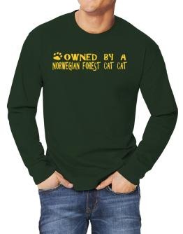 Owned By A Norwegian Forest Cat Long-sleeve T-Shirt