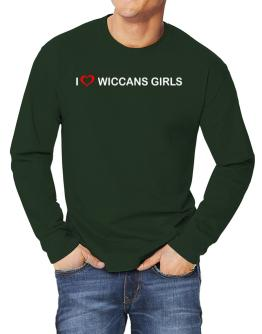 I love Wiccans Girls Long-sleeve T-Shirt
