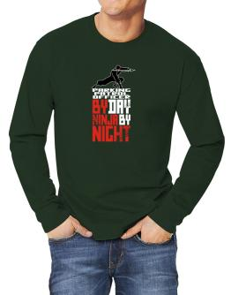 Parking Patrol Officer by day ninja by night Long-sleeve T-Shirt