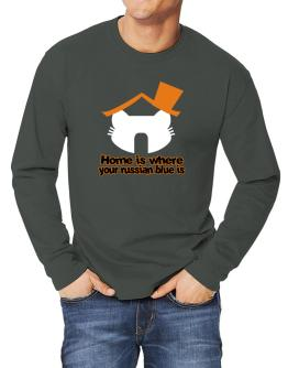 Home Is Where Russian Blue Is Long-sleeve T-Shirt