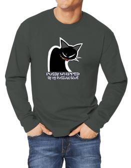 Pussy Whipped By My Russian Blue Long-sleeve T-Shirt