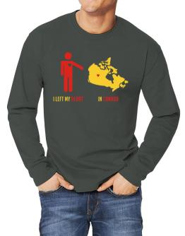 I Left My Heart In Canada - Map Long-sleeve T-Shirt