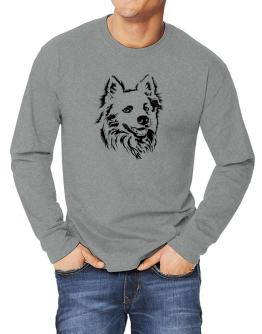 """ Australian Cattle Dog FACE SPECIAL GRAPHIC "" Long-sleeve T-Shirt"