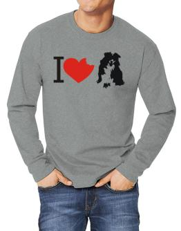 I love Australian Shepherds Long-sleeve T-Shirt
