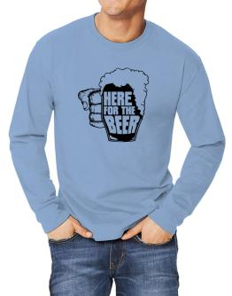 Here For The Beer Long-sleeve T-Shirt