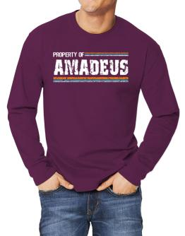""" Property of Amadeus - Vintage "" Long-sleeve T-Shirt"