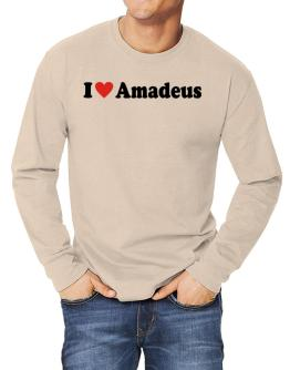""" I love Amadeus "" Long-sleeve T-Shirt"