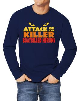 Attack Of The Killer Boatbilled Herons Long-sleeve T-Shirt