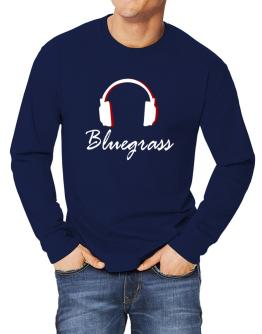 Bluegrass - Headphones Long-sleeve T-Shirt